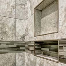 Creatively Tiled Bathroom